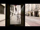 Виртуальная реклама Pepsi на автобусной остановке в Лондоне